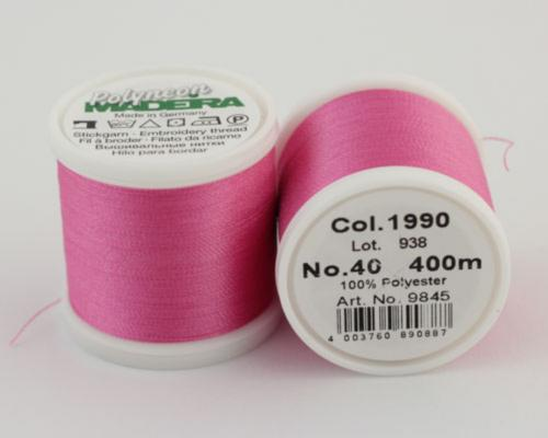 1990/9845 Polyneon №40 высокопрочная вышивальная нить, 100% полиэстер, 400 м