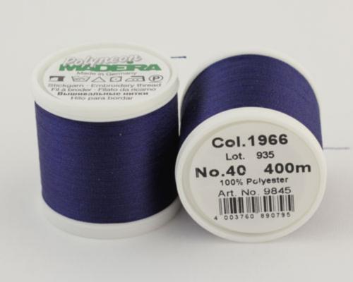 1966/9845 Polyneon №40 высокопрочная вышивальная нить, 100% полиэстер, 400 м