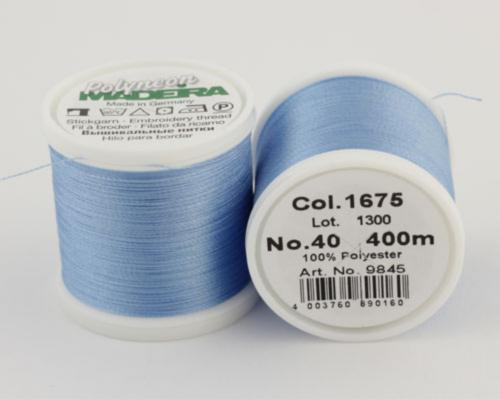 1675/9845 Polyneon №40 высокопрочная вышивальная нить, 100% полиэстер, 400 м