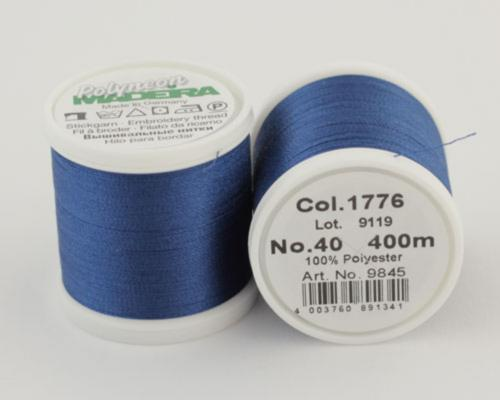 1776/9845 Polyneon №40 высокопрочная вышивальная нить, 100% полиэстер, 400 м