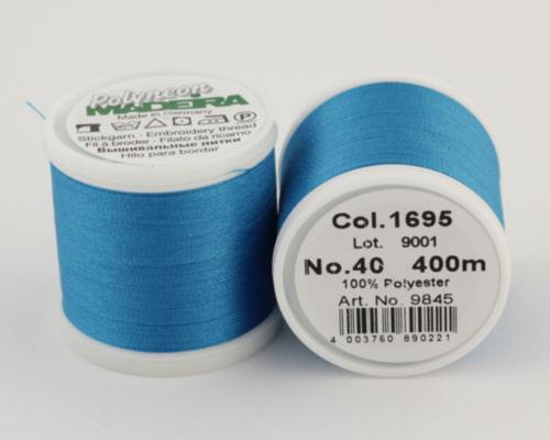 1695/9845 Polyneon №40 высокопрочная вышивальная нить, 100% полиэстер, 400 м