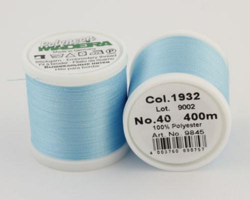 1932/9845 Polyneon №40 высокопрочная вышивальная нить, 100% полиэстер, 400 м