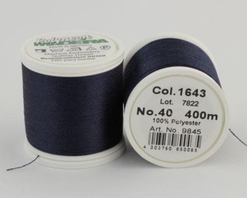 1643/9845 Polyneon №40 высокопрочная вышивальная нить, 100% полиэстер, 400 м
