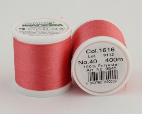 1616/9845 Polyneon №40 высокопрочная вышивальная нить, 100% полиэстер, 400 м