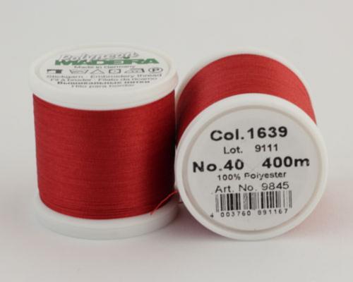 1639/9845 Polyneon №40 высокопрочная вышивальная нить, 100% полиэстер, 400 м