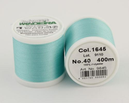 1645/9845 Polyneon №40 высокопрочная вышивальная нить, 100% полиэстер, 400 м