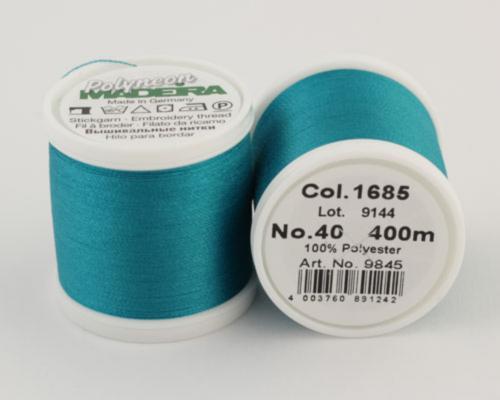 1685/9845 Polyneon №40 высокопрочная вышивальная нить, 100% полиэстер, 400 м