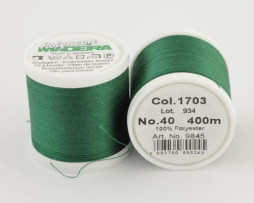 1703/9845 Polyneon №40 высокопрочная вышивальная нить, 100% полиэстер, 400 м