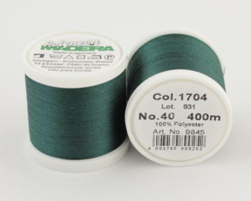 1704/9845 Polyneon №40 высокопрочная вышивальная нить, 100% полиэстер, 400 м