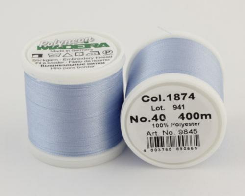 1874/9845 Polyneon №40 высокопрочная вышивальная нить, 100% полиэстер, 400 м