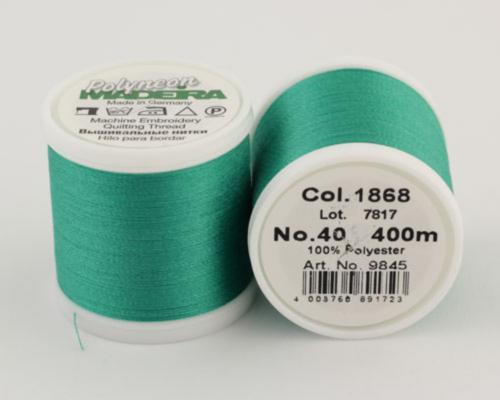 1868/9845 Polyneon №40 высокопрочная вышивальная нить, 100% полиэстер, 400 м