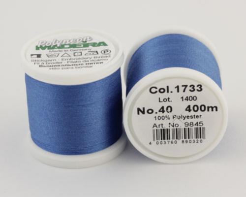 1733/9845 Polyneon №40 высокопрочная вышивальная нить, 100% полиэстер, 400 м