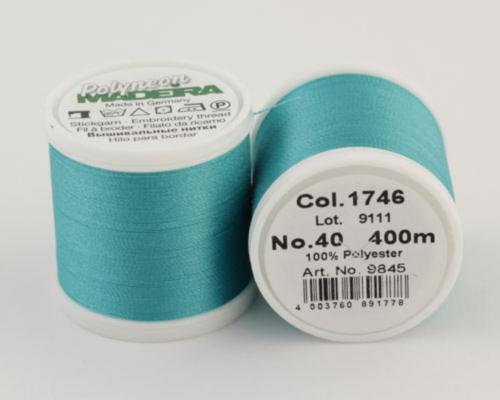 1746/9845 Polyneon №40 высокопрочная вышивальная нить, 100% полиэстер, 400 м