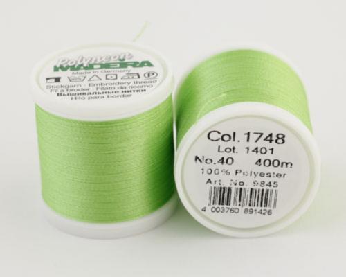 1748/9845 Polyneon №40 высокопрочная вышивальная нить, 100% полиэстер, 400 м
