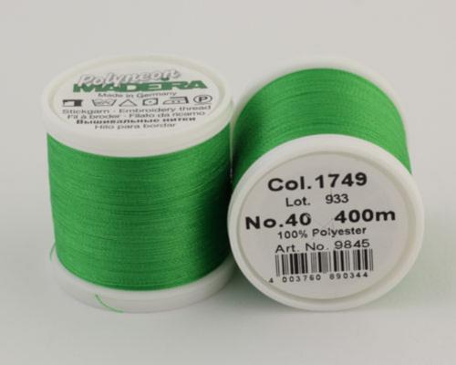 1749/9845 Polyneon №40 высокопрочная вышивальная нить, 100% полиэстер, 400 м