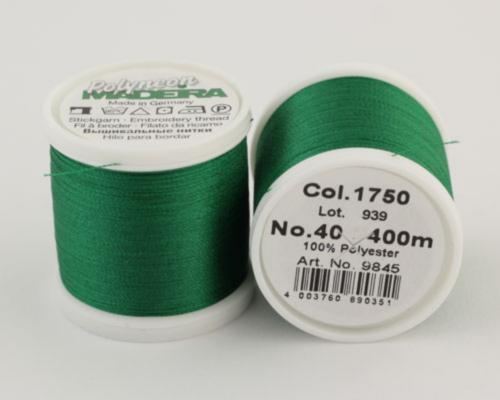 1750/9845 Polyneon №40 высокопрочная вышивальная нить, 100% полиэстер, 400 м