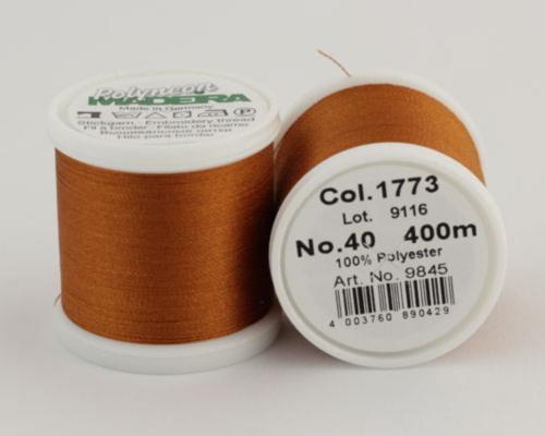 1773/9845 Polyneon №40 высокопрочная вышивальная нить, 100% полиэстер, 400 м