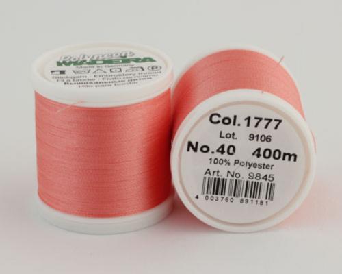 1777/9845 Polyneon №40 высокопрочная вышивальная нить, 100% полиэстер, 400 м