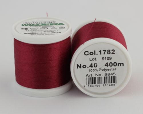 1782/9845 Polyneon №40 высокопрочная вышивальная нить, 100% полиэстер, 400 м