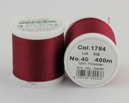 1784/9845 Polyneon №40 высокопрочная вышивальная нить, 100% полиэстер, 400 м