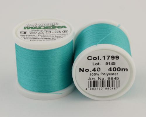 1799/9845 Polyneon №40 высокопрочная вышивальная нить, 100% полиэстер, 400 м