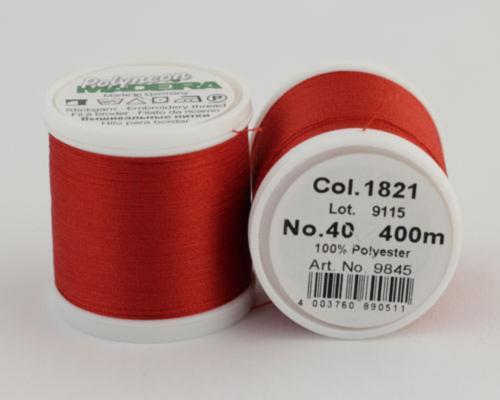 1821/9845 Polyneon №40 высокопрочная вышивальная нить, 100% полиэстер, 400 м