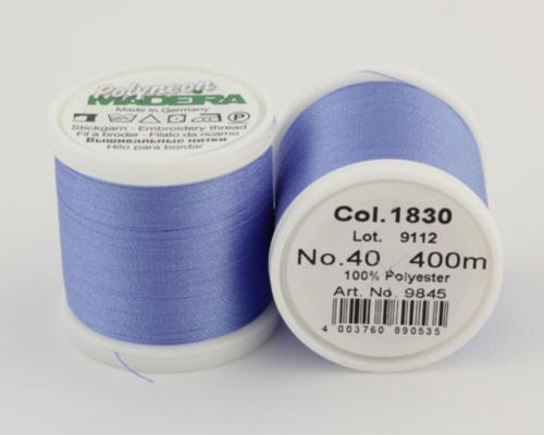 1830/9845 Polyneon №40 высокопрочная вышивальная нить, 100% полиэстер, 400 м