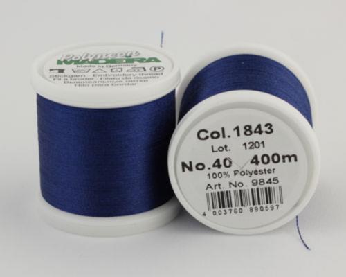 1843/9845 Polyneon №40 высокопрочная вышивальная нить, 100% полиэстер, 400 м