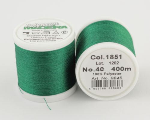 1851/9845 Polyneon №40 высокопрочная вышивальная нить, 100% полиэстер, 400 м