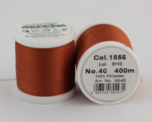 1856/9845 Polyneon №40 высокопрочная вышивальная нить, 100% полиэстер, 400 м