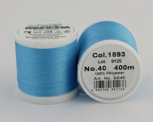 1893/9845 Polyneon №40 высокопрочная вышивальная нить, 100% полиэстер, 400 м