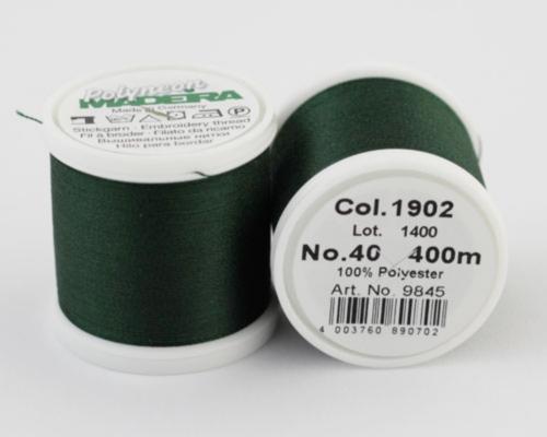 1902/9845 Polyneon №40 высокопрочная вышивальная нить, 100% полиэстер, 400 м