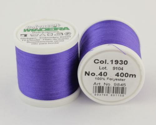 1930/9845 Polyneon №40 высокопрочная вышивальная нить, 100% полиэстер, 400 м