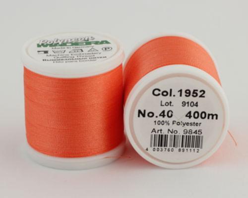 1952/9845 Polyneon №40 высокопрочная вышивальная нить, 100% полиэстер, 400 м