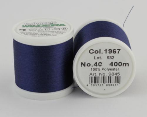 1967/9845 Polyneon №40 высокопрочная вышивальная нить, 100% полиэстер, 400 м