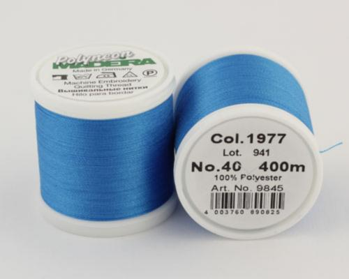 1977/9845 Polyneon №40 высокопрочная вышивальная нить, 100% полиэстер, 400 м