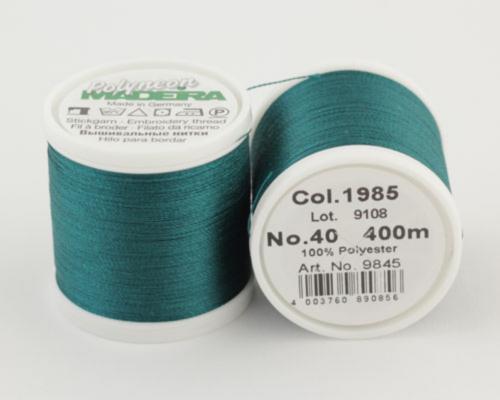 1985/9845 Polyneon №40 высокопрочная вышивальная нить, 100% полиэстер, 400 м