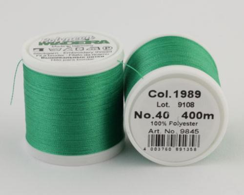 1989/9845 Polyneon №40 высокопрочная вышивальная нить, 100% полиэстер, 400 м