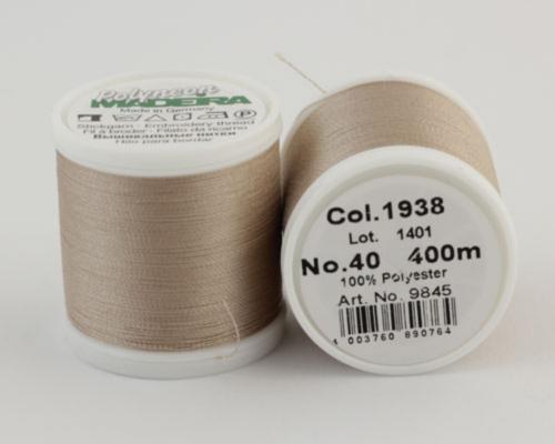 1938/9845 Polyneon №40 высокопрочная вышивальная нить, 100% полиэстер, 400 м