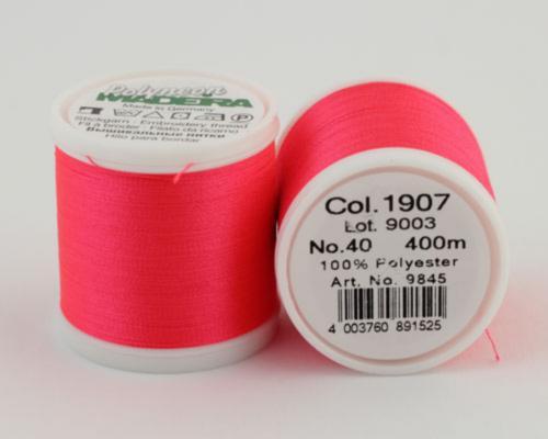 1907/9845 Polyneon №40 высокопрочная вышивальная нить, 100% полиэстер, 400 м