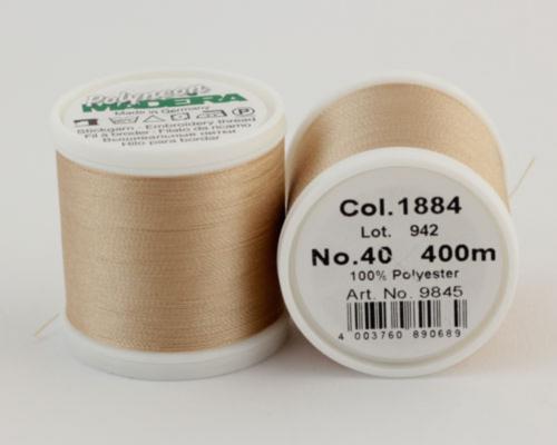1884/9845 Polyneon №40 высокопрочная вышивальная нить, 100% полиэстер, 400 м