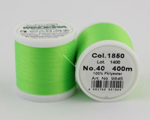 1850/9845 Polyneon №40 высокопрочная вышивальная нить, 100% полиэстер, 400 м