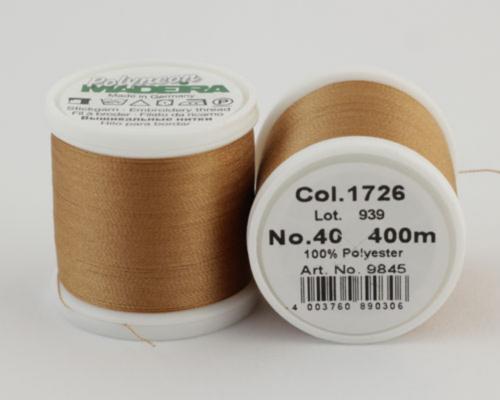 1726/9845 Polyneon №40 высокопрочная вышивальная нить, 100% полиэстер, 400 м