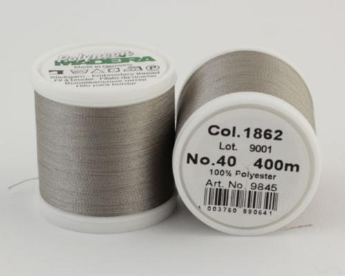 1862/9845 Polyneon №40 высокопрочная вышивальная нить, 100% полиэстер, 400 м