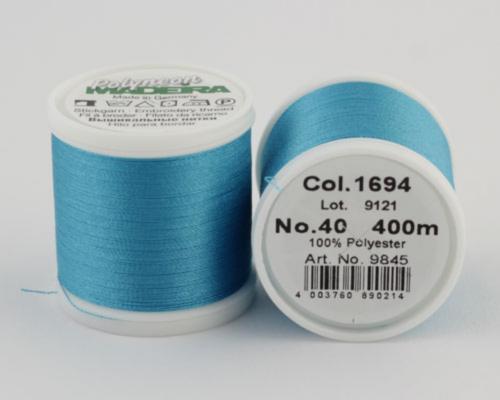 1694/9845 Polyneon №40 высокопрочная вышивальная нить, 100% полиэстер, 400 м