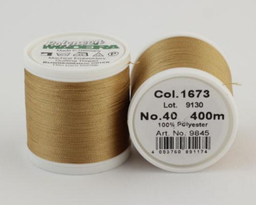 1673/9845 Polyneon №40 высокопрочная вышивальная нить, 100% полиэстер, 400 м