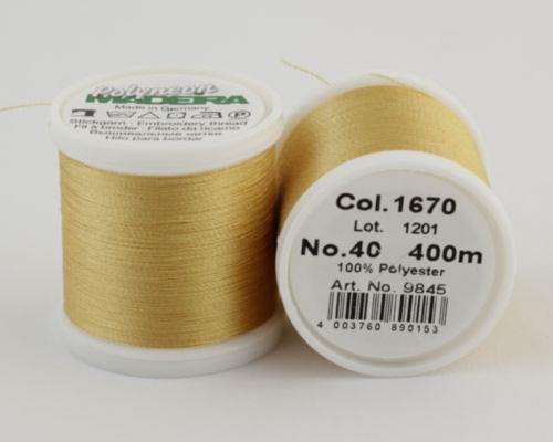 1670/9845 Polyneon №40 высокопрочная вышивальная нить, 100% полиэстер, 400 м