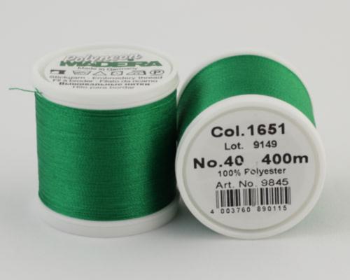 1651/9845 Polyneon №40 высокопрочная вышивальная нить, 100% полиэстер, 400 м