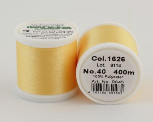 1626/9845 Polyneon №40 высокопрочная вышивальная нить, 100% полиэстер, 400 м