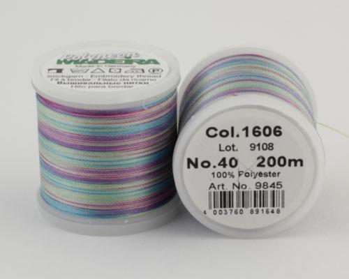 1606/9845 Polyneon №40 высокопрочная вышивальная нить, 100% полиэстер, 400 м